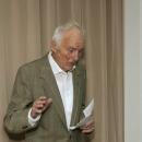 Pan Helmut Maletzke - prowadzi galerię Pommernhus w Greifswaldzie